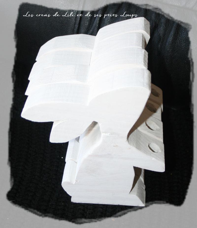 Lapin enfilade blanchi